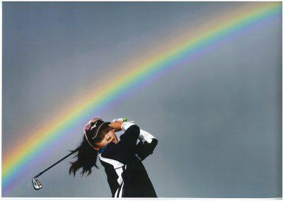 Bohyun with rainbow