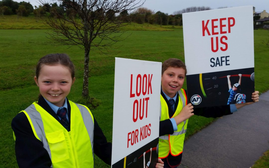 Students send message to drivers to slow down